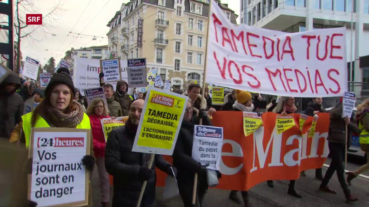 Westschweizer Zeitungen unter Druck