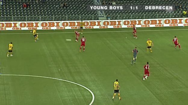 Video «Fussball: YB-Debrecen in der UEFA-Cup-Qualifikation 2008» abspielen