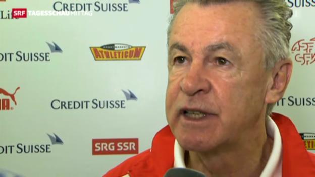 Video «Ottmar Hitzfeld zum Spiel Schweiz-Brasilien» abspielen