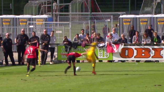 Video «Fussball : Schweizer Cup, Münsingen – Sion, Live-Highlights» abspielen