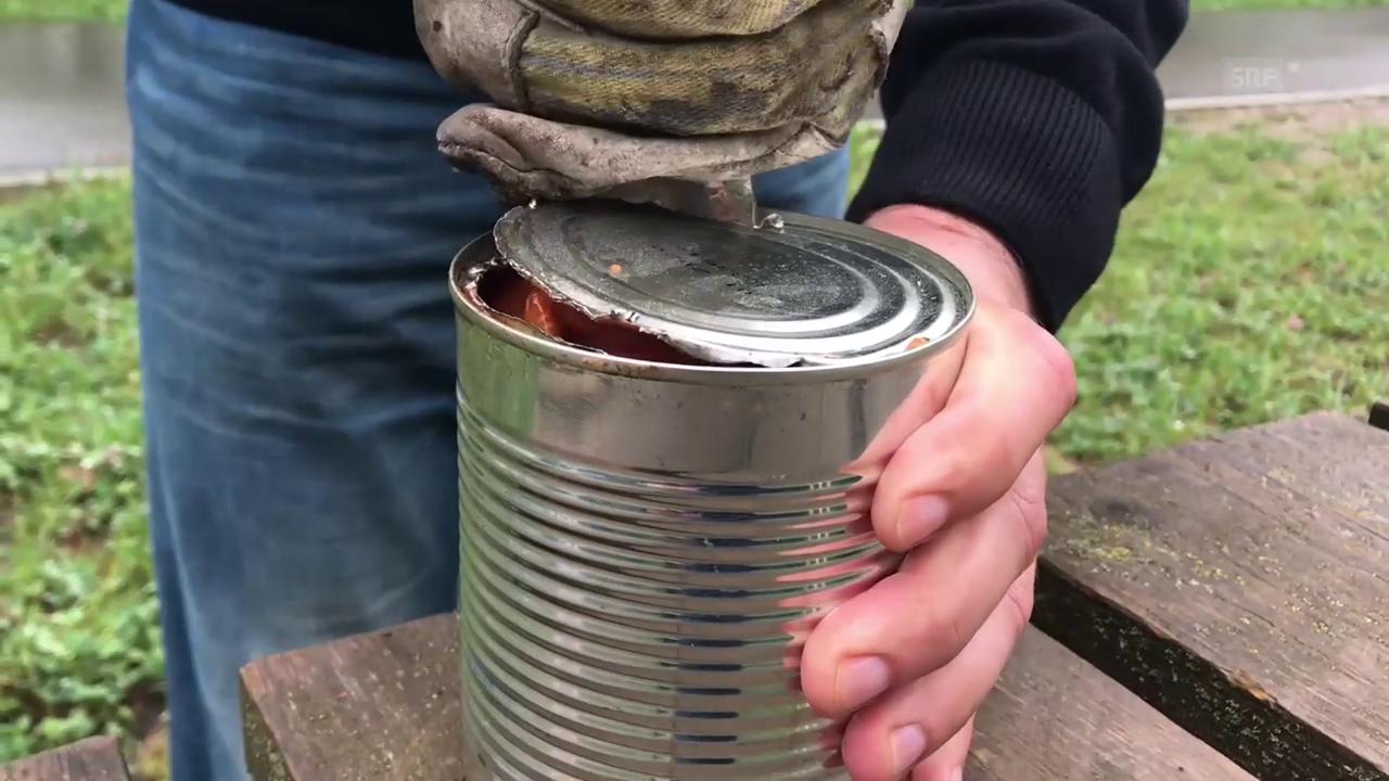 Trick 77: Raviolibüchse öffnen nur mit einem Löffel