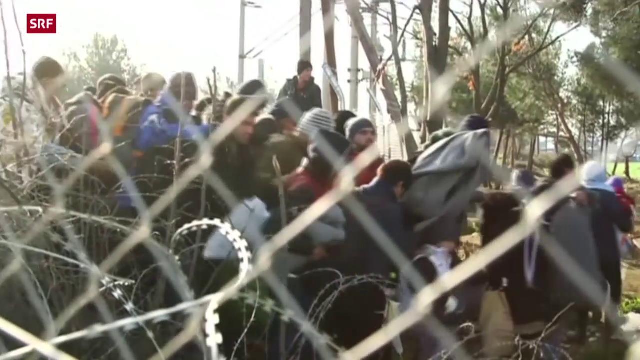 Gestrandete Flüchtlinge in Mazedonien
