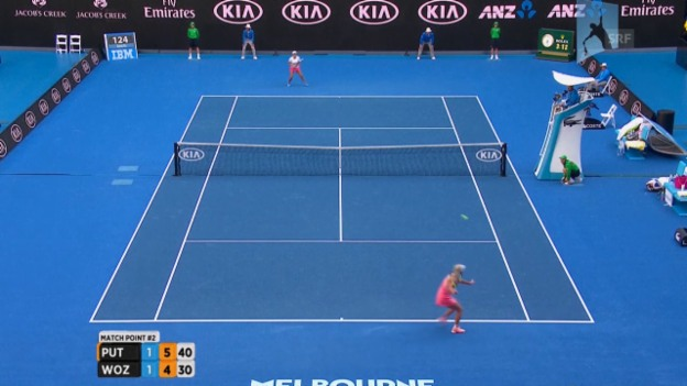 Video «Australian Open: Das Out von Wozniacki» abspielen
