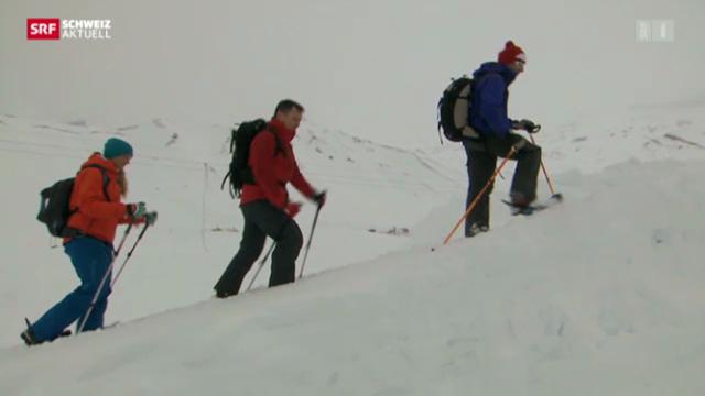 Drei Spuren im Schnee – vom Chuenisbärgli ans Lauberhorn