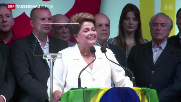 Video «Brasiliens Präsidentin Dilma Rousseff wiedergewählt» abspielen