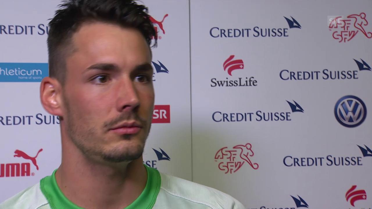 Fussball: Testländerspiel Schweiz-USA, Interview mit Roman Bürki