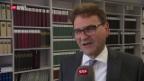 Video «Beat Villiger nimmt Wiederwahl an» abspielen