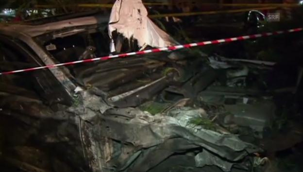 Video «Autobombe explodiert in Beirut» abspielen