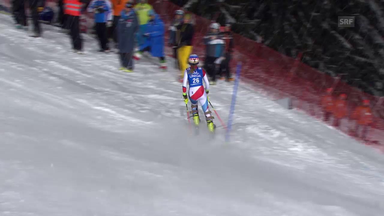 Ski: Weltcup, Flachau, 2. Lauf Ausfall Charlotte Chable