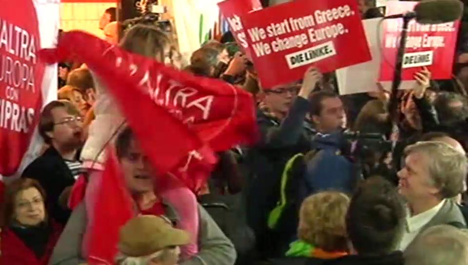 Linke feiern Tsipras-Sieg