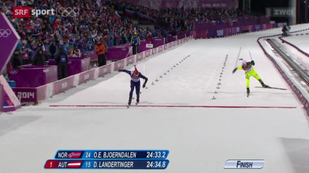 Video «Biathlon: Sprint der Männer über 10 km» abspielen