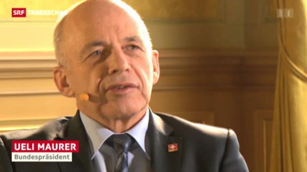 Video «Ueli Maurer zur gescheiterten Kandidatur» abspielen