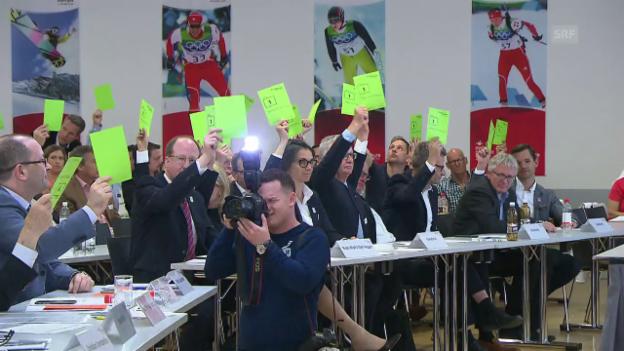 Video «Sportparlament segnet Kandidatur «Sion 2026» ab» abspielen
