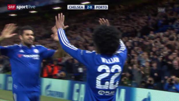 Video «Fussball: CL, Matchbericht Chelsea-Porto» abspielen