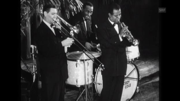 Video «Louis Armstrong 1949 bei einem Auftritt in Zürich» abspielen