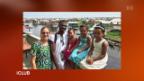 Video «Das Ehepaar Dansour ist nach Afrika zurückgekehrt. Marcial stammt aus Benin, seine Frau Lea aus der Schweiz. Sie beschreibt ihre Familiensituation in Benin.» abspielen