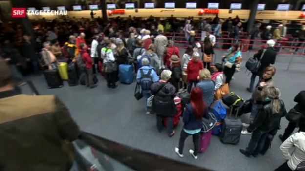 Video «Kälte treibt viele in den Süden» abspielen