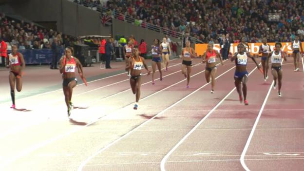 Video «4x100-m-Staffel der Frauen» abspielen