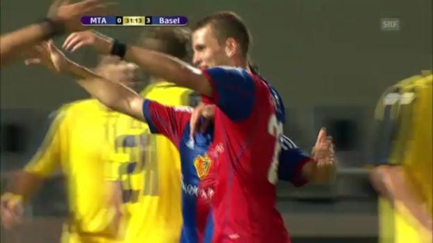 Video «Maccabi Tel Aviv - Basel: Die Tore («sportlive»)» abspielen