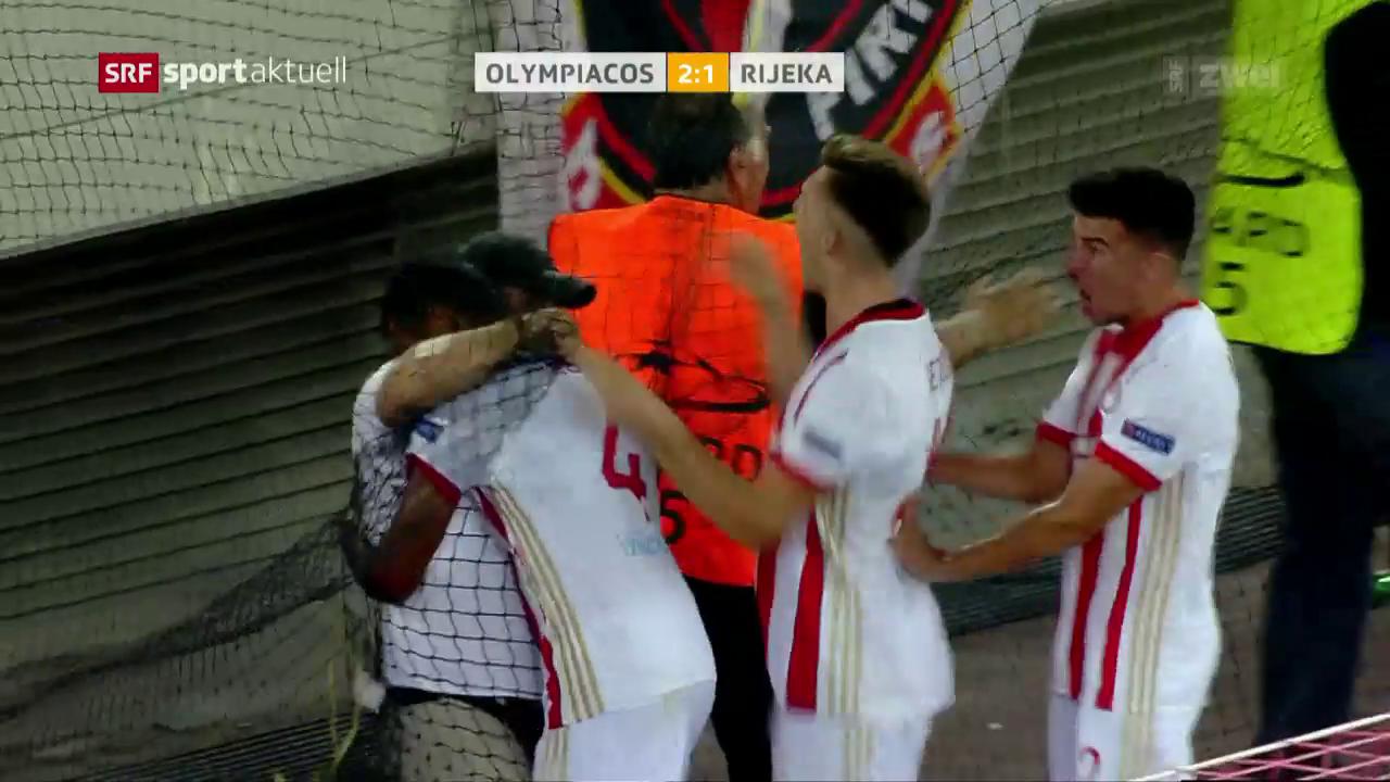Olympiakos jubelt spät