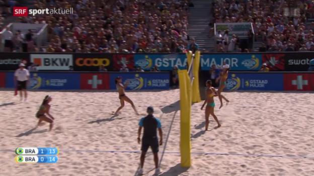 Video «Beachvolleyball: Der Final am Major-Series-Turnier in Gstaad» abspielen