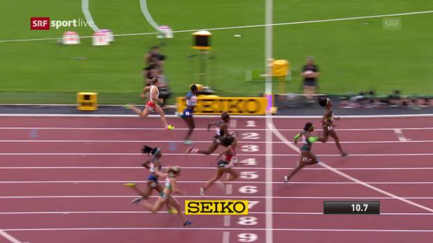 Video «Der Halbfinal-Lauf von Mujinga Kambundji» abspielen
