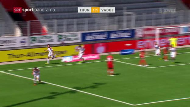 Video «Vaduz kommt in Thun zu Last-Minute-Punkt» abspielen
