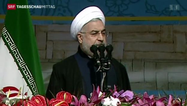 Video «Iran feiert 35 Jahre Islamische Revolution» abspielen