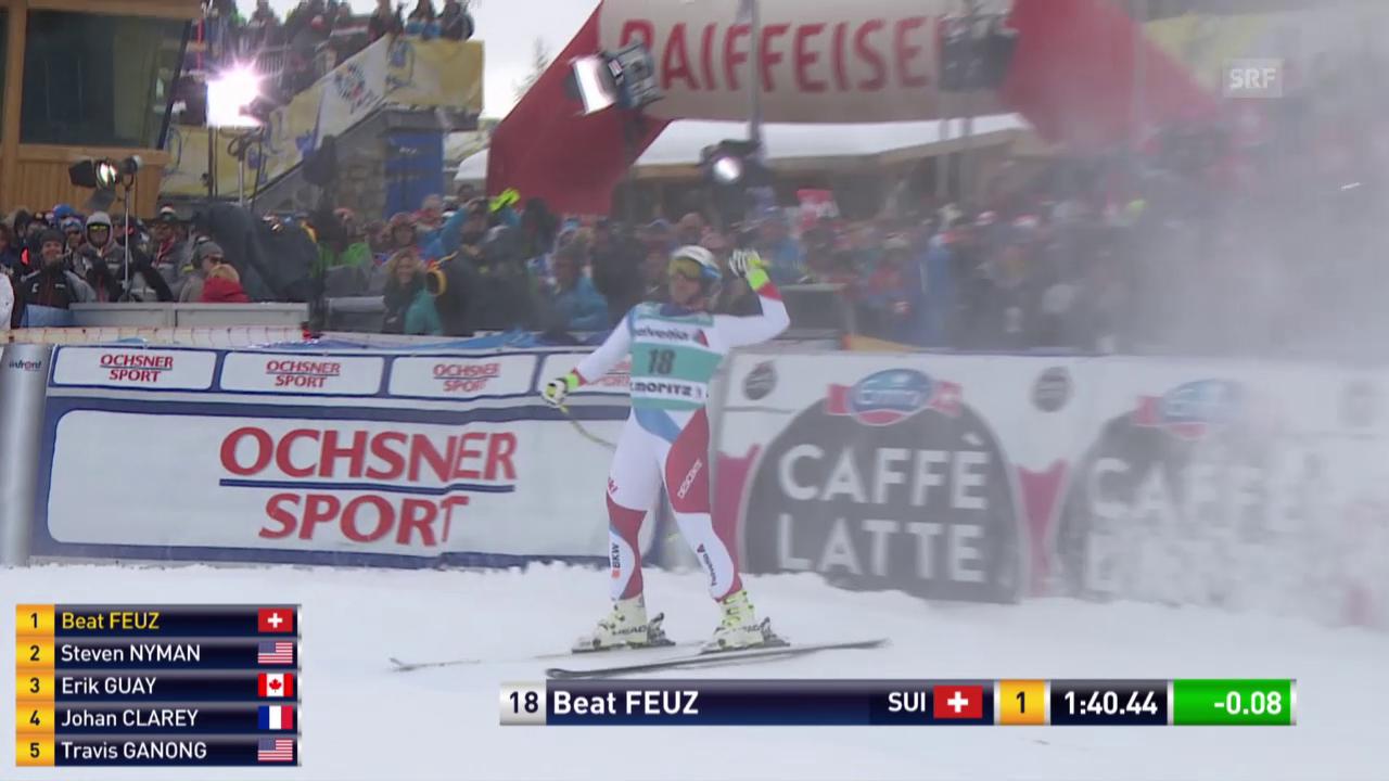 Beat Feuz fährt in St. Moritz zum Heimsieg