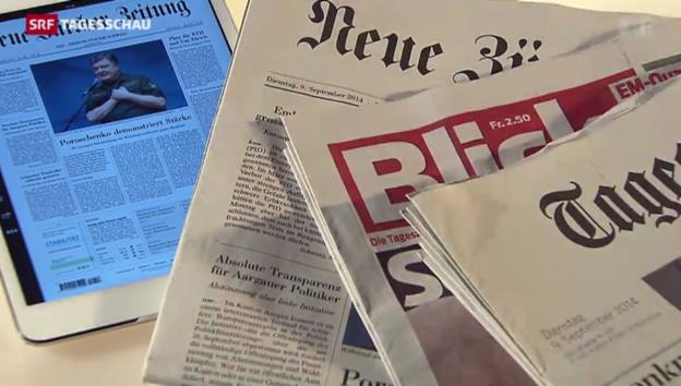 Video «Printmedien verlieren stark an Lesern» abspielen