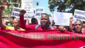 Video «Proteste gegen Korruption in Südafrika» abspielen