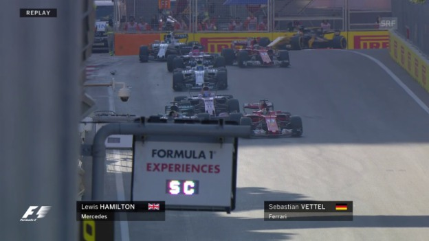 Video «Der unrühmliche Zwischenfall von Vettel» abspielen