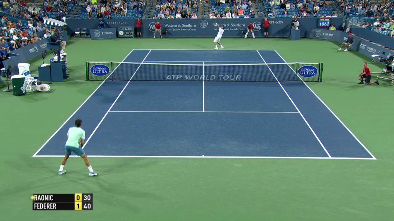 Tennis: Wichtigste Punkte Federer - Raonic
