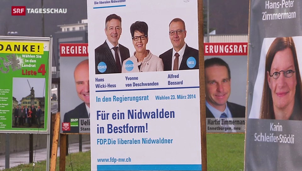 Wahlen in Nidwalden: Mitte-Rechts muss Sitze abgeben
