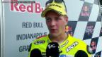 Video «Motorrad: Dominique Aegerter nach dem GP Indianapolis» abspielen