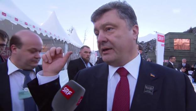 Video «Poroschenkos Appell (engl.)» abspielen