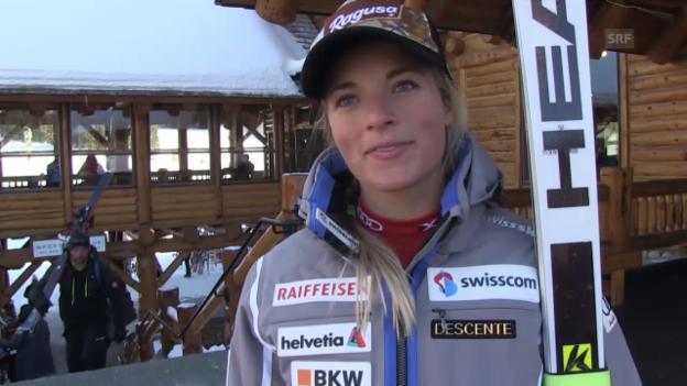 Video «Ski: Weltcup Frauen, Interview Lara Gut» abspielen