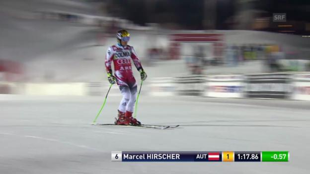 Video «Ski: Weltcup Männer, Riesenslalom Are, 1. Lauf Hirscher» abspielen