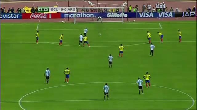WM: Die Tore bei Ecuador - Argentinien