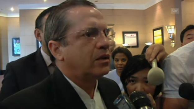 Video «Aussenminister Patiño bestätigt Snowdens Asylantrag (span./engl.)» abspielen