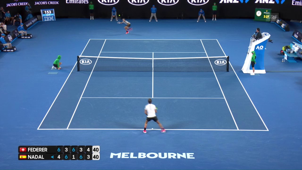 Federer - Nadal: Die Live-Highlights