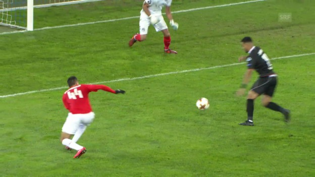 Video «Lugano schlägt Be'er Scheva 1:0» abspielen