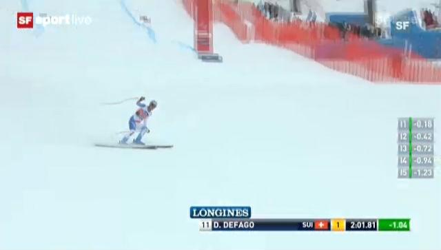 Ski: Fahrt Didier Défago («sportlive»)