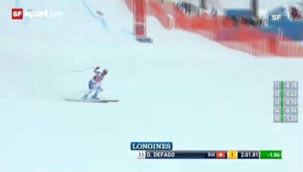 Video «Ski: Fahrt Didier Défago («sportlive»)» abspielen