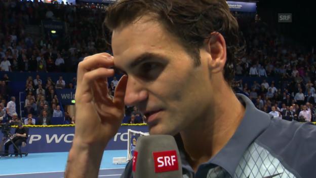 Video «Siegerinterview mit Roger Federer («sportlive»)» abspielen