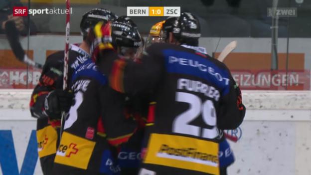 Video «Eishockey: NLA, Bern-ZSC Lions» abspielen