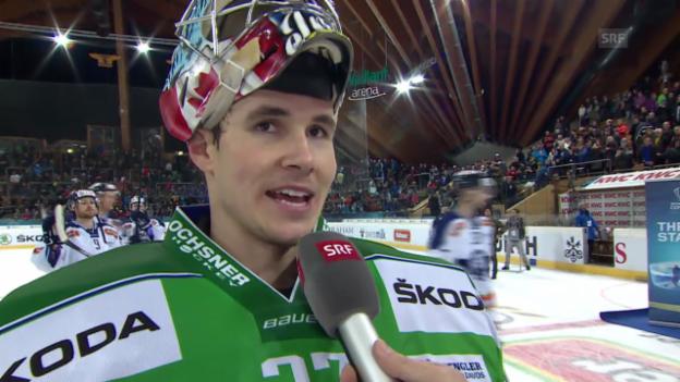 Video «Eishockey: Spengler Cup, Ufa - Zagreb, Interview Irving» abspielen