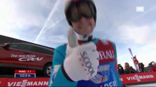 Video «Springen Garmisch: 2. Sprung Jacobsen» abspielen