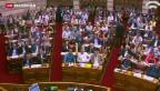 Video «Griechenland nach Parlamentsbeschluss gespalten» abspielen