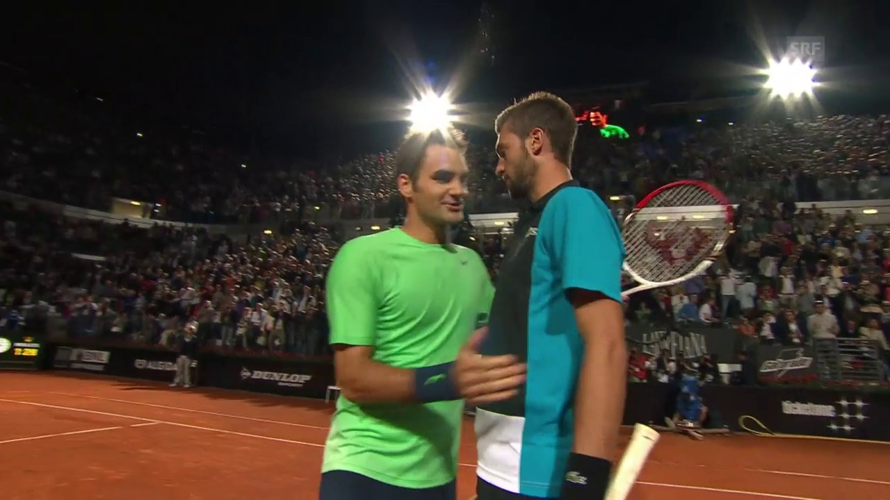 Die bisherigen Duelle Federer - Paire